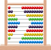 Abacus with rainbow colored beads