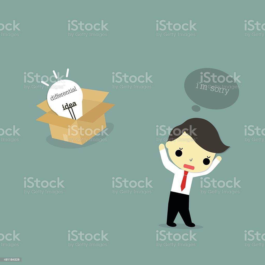 abandon idea vector art illustration