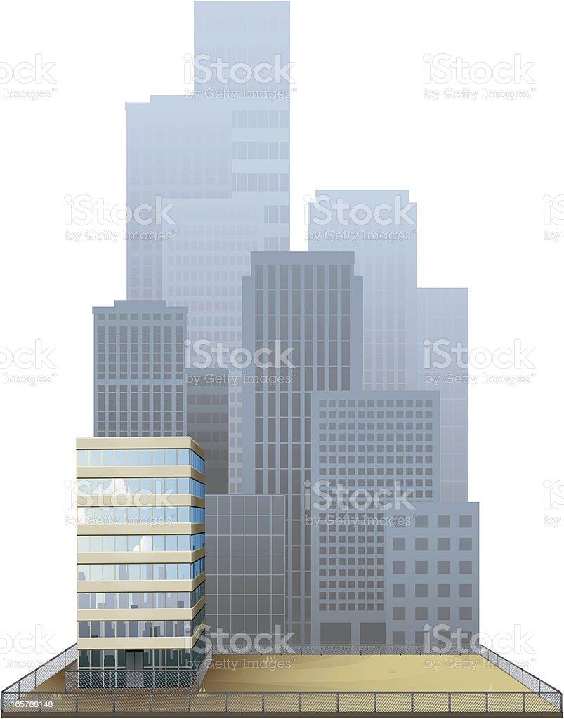 Abandoned City Lot royalty-free stock vector art