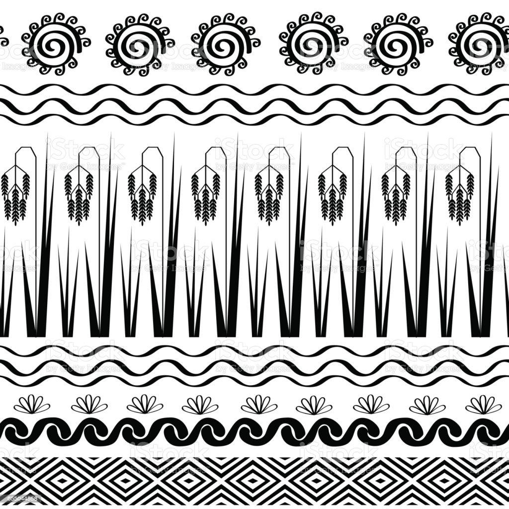 Abastract rice seamless pattern. Vector texture vector art illustration