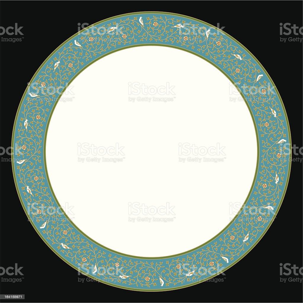 Abhar Saucer Ornament royalty-free stock vector art