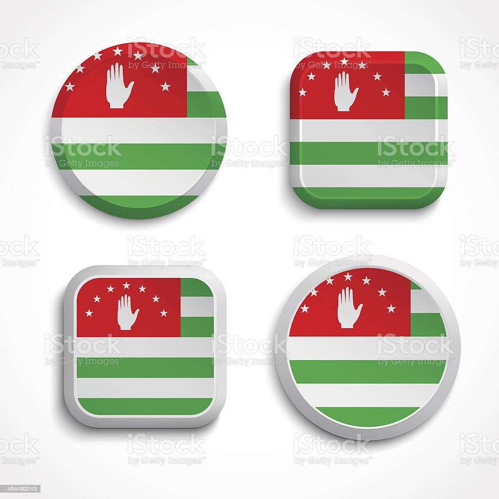 Abkhazia flag buttons royalty-free stock vector art