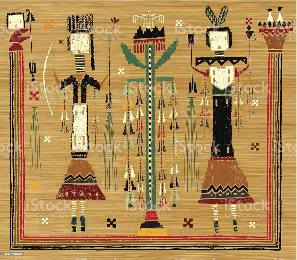 Aborigines vector art illustration