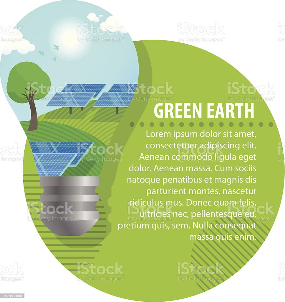 About solar power vector art illustration