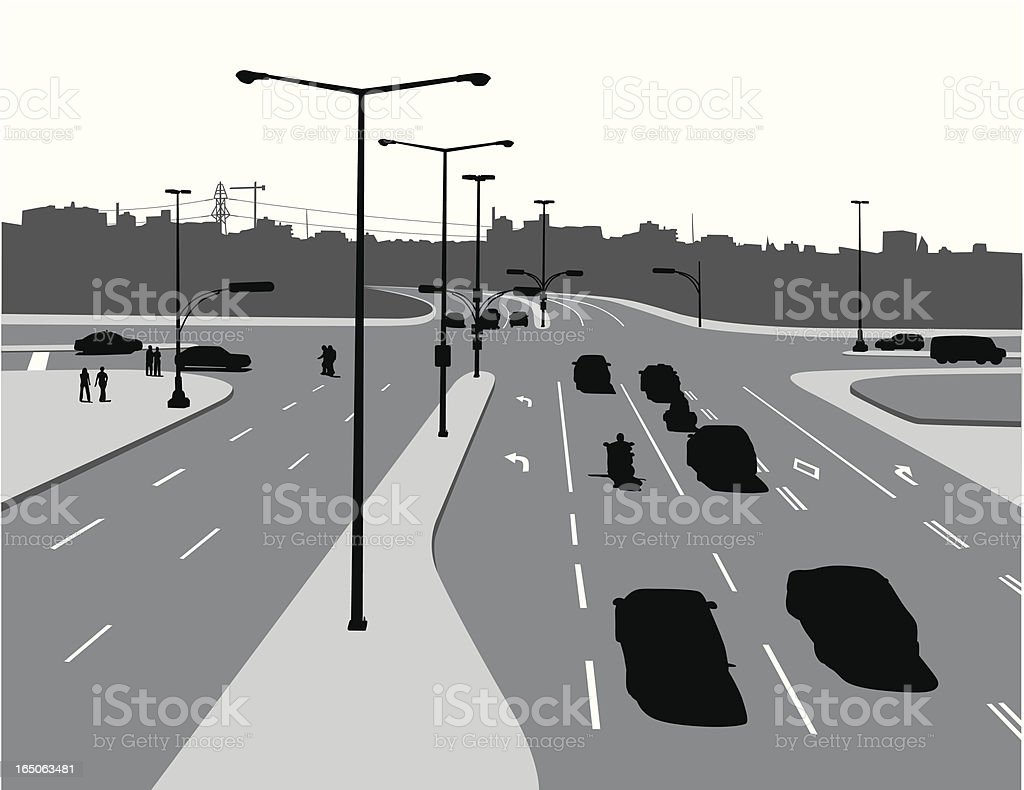 Above The Street Vector Silhouette royalty-free stock vector art