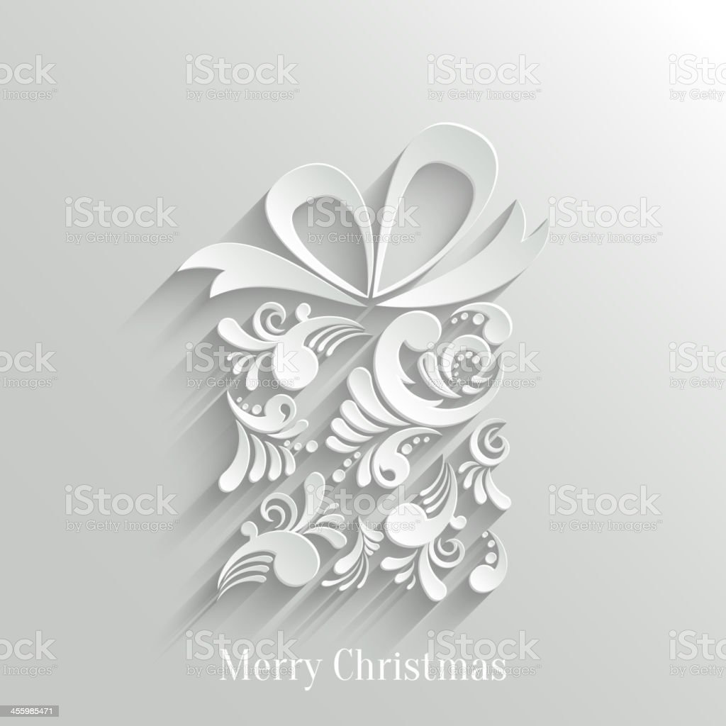 Absrtact Floral Gift Background vector art illustration