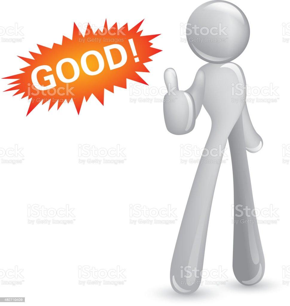 Abstact man thumbs-up royalty-free stock vector art