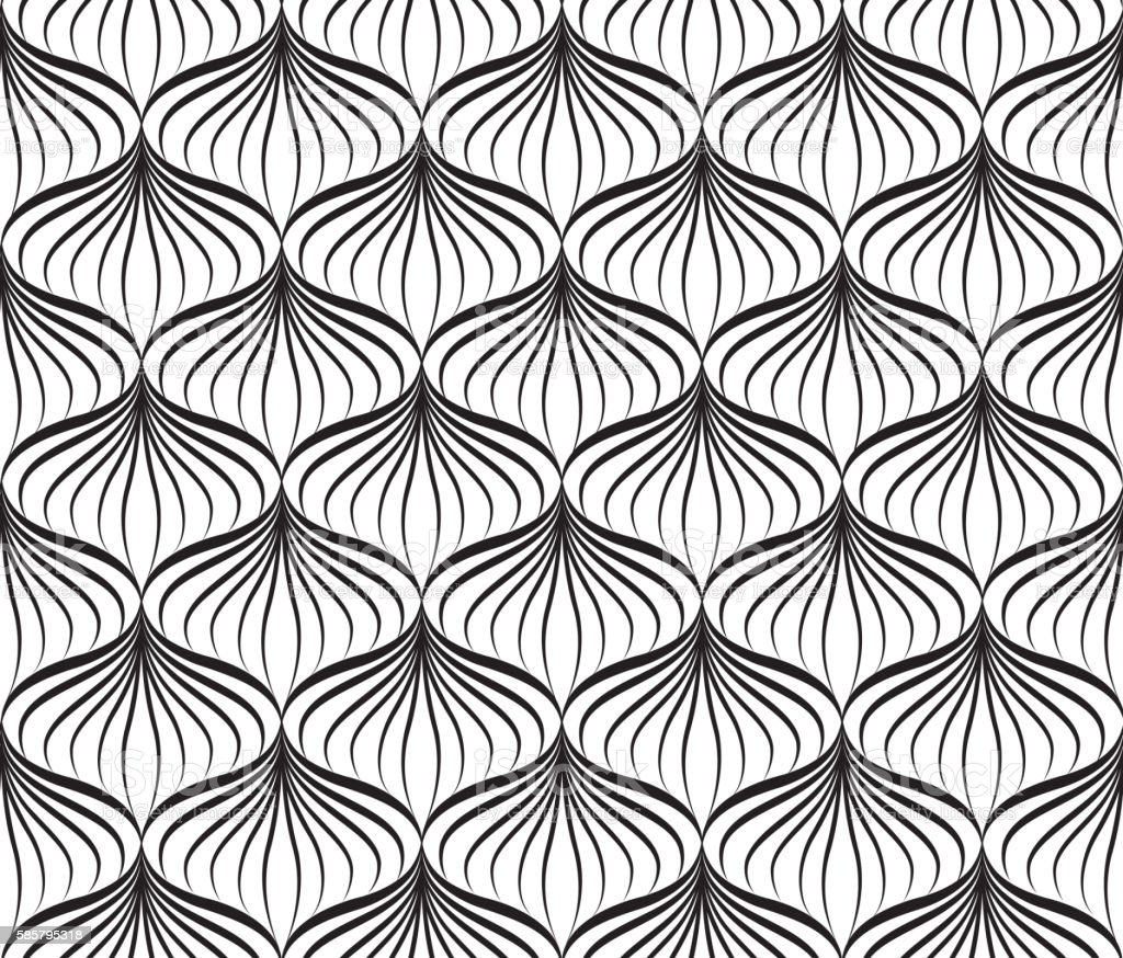 Abstact seamless pattern Floral geometric ornament Stylish ornamental background vector art illustration
