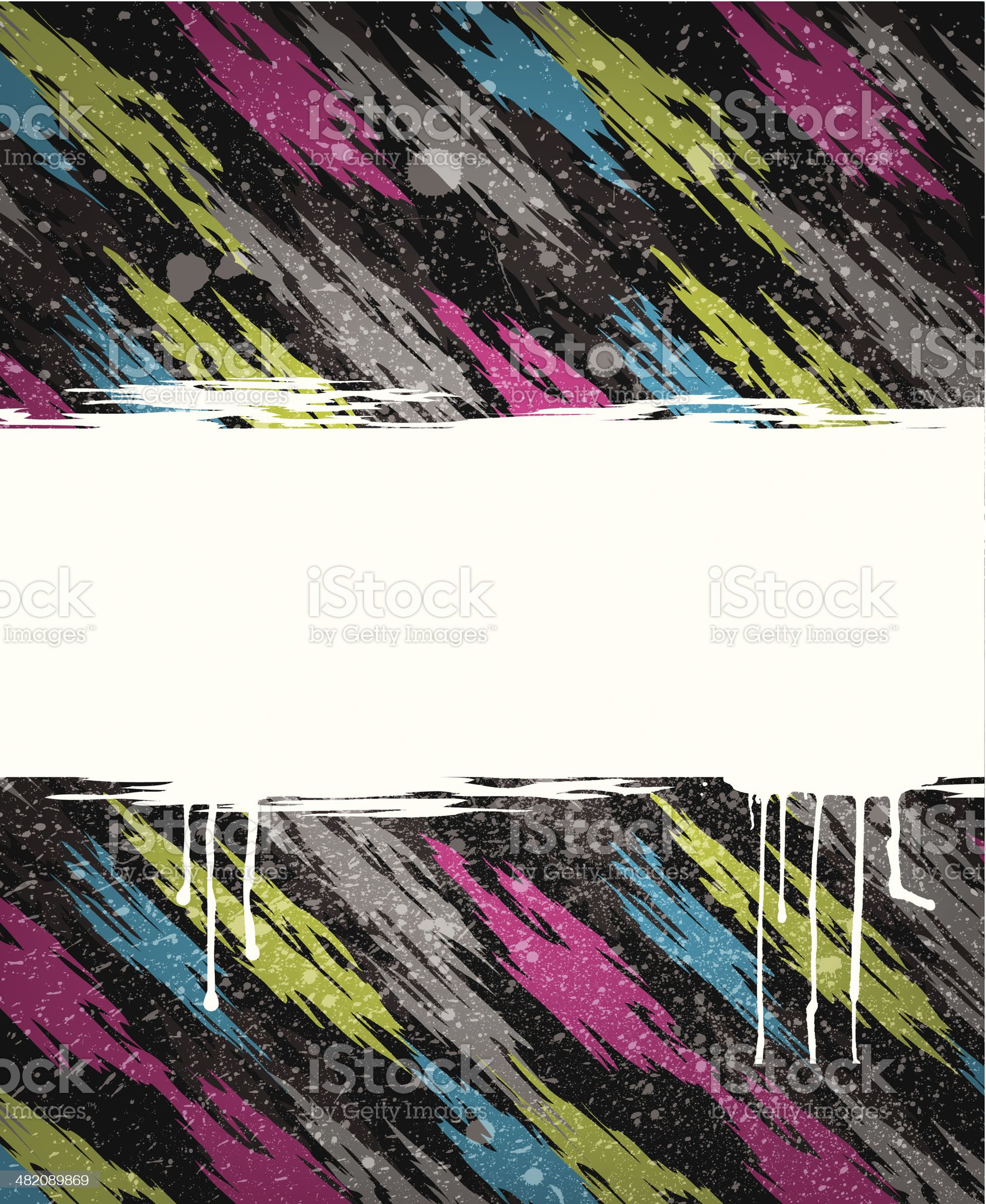 Abstract 1980's Frame on Black Ground royalty-free stock vector art