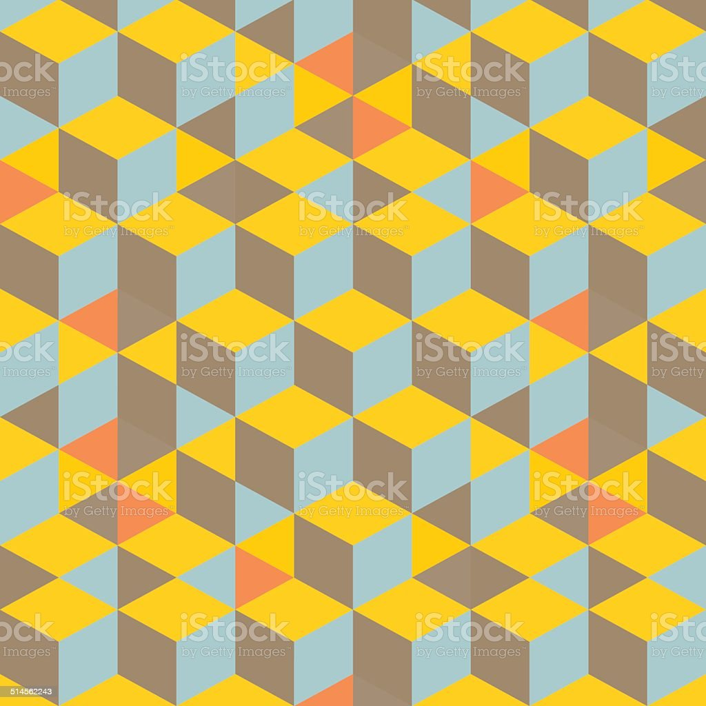 Abstract 3d background - wall of cubes. Vector illustration. vector art illustration