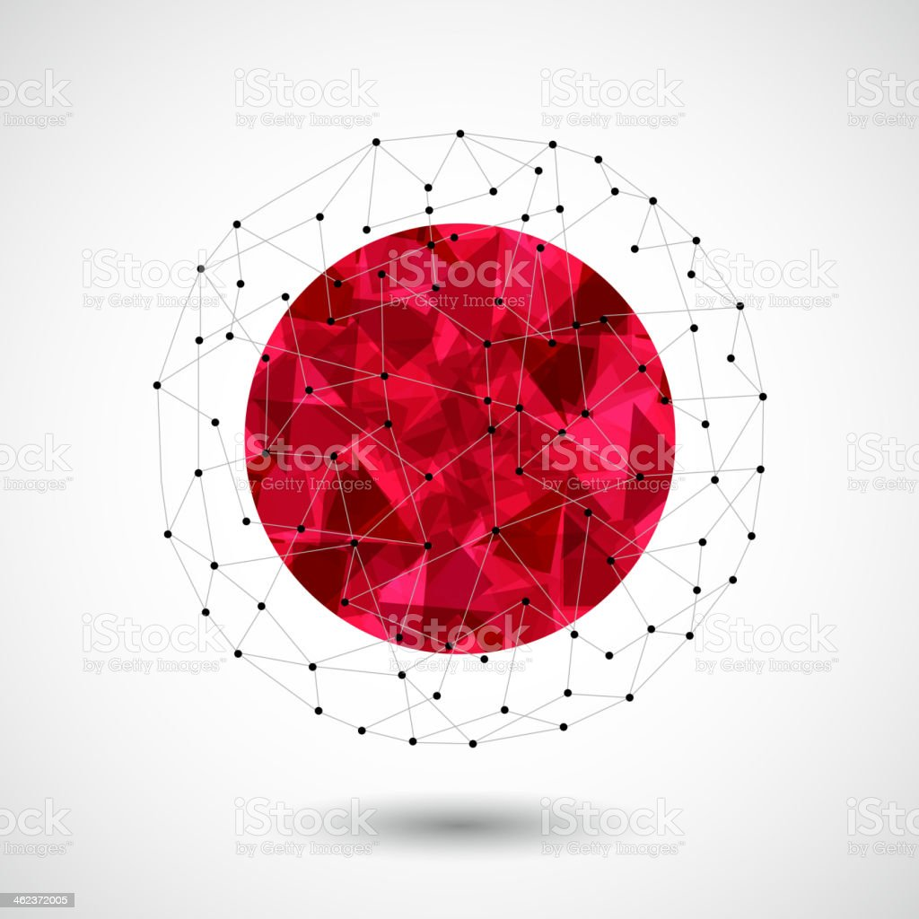abstract 3D ball technology background vector art illustration