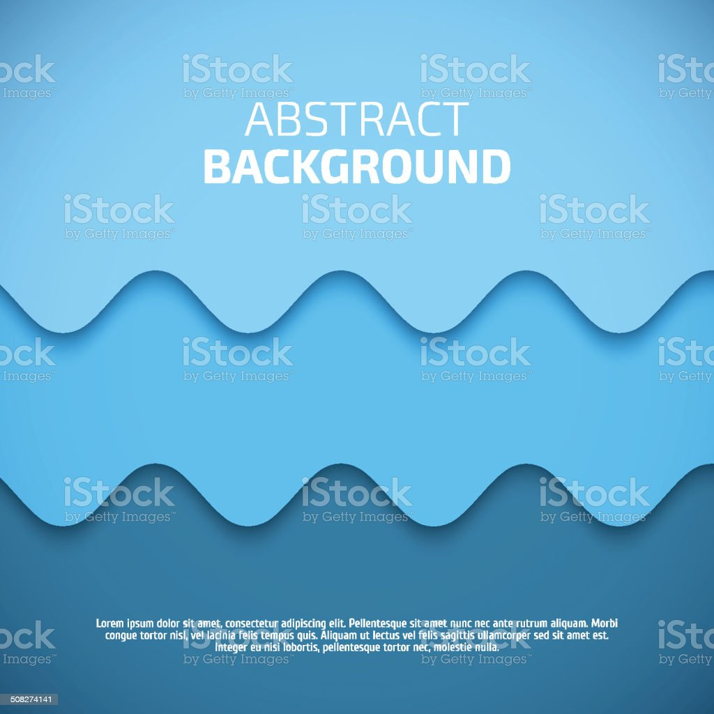 Abstract 3d Blue Background Vector vector art illustration