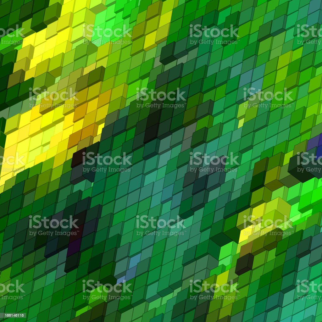 Abstract 3d colorful mosaic background. EPS 8 royalty-free stock vector art