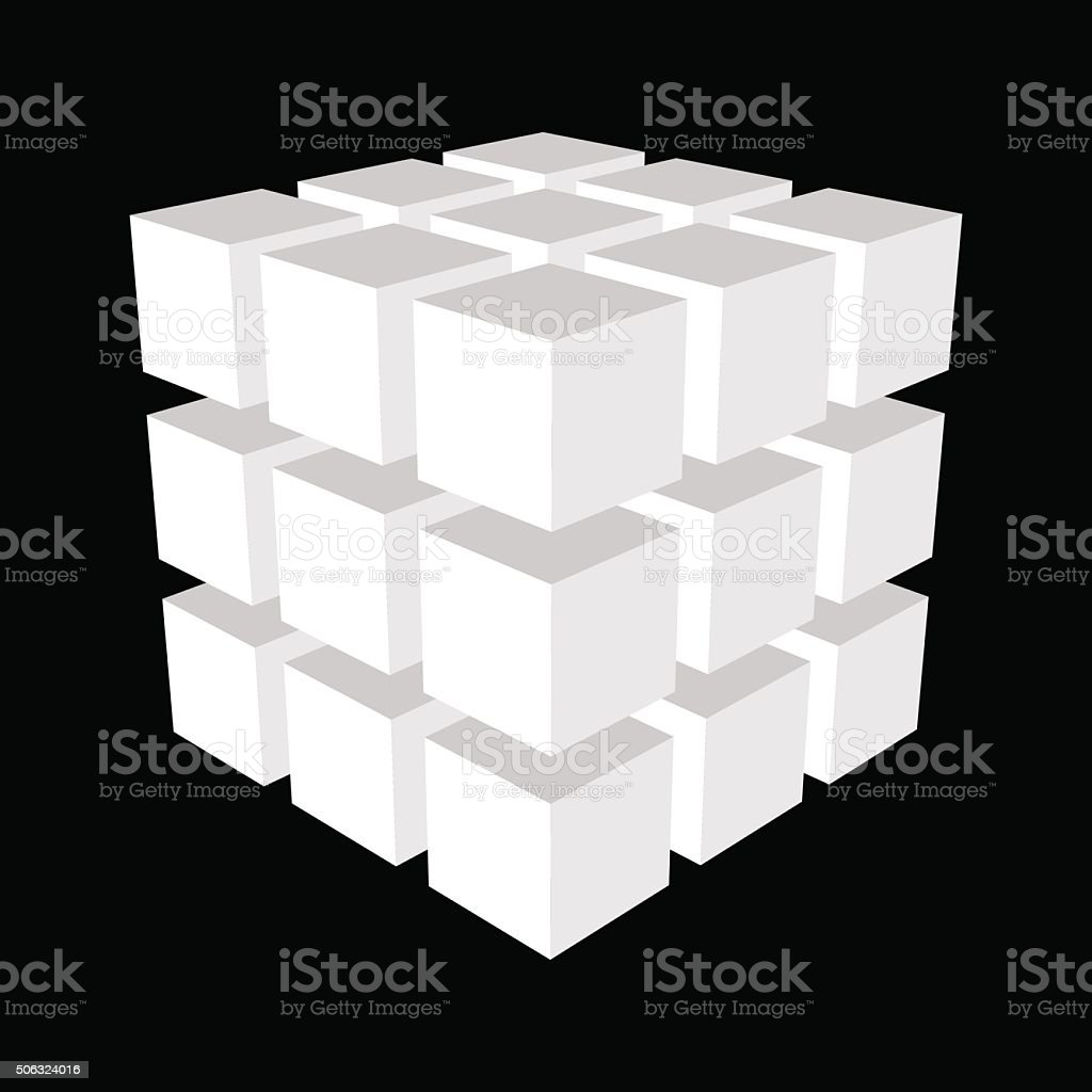 Abstract 3d cubes.Vector illustration. vector art illustration