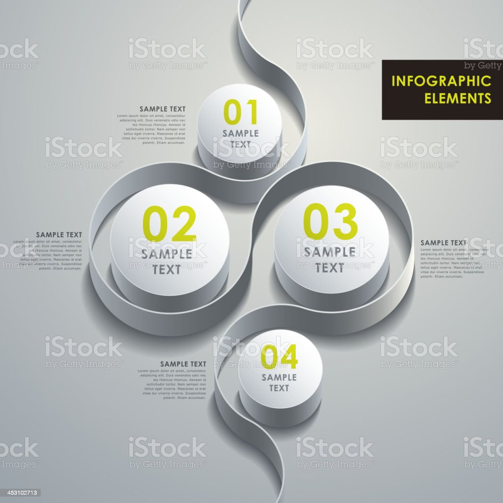 abstract 3d cylinder infographics royalty-free stock vector art