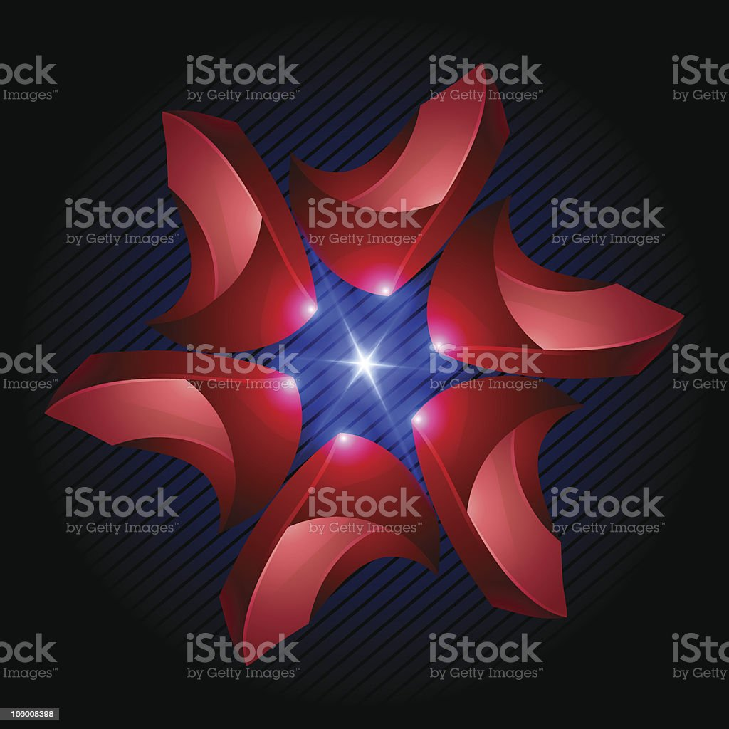 Abstract 3D Design Element royalty-free stock vector art