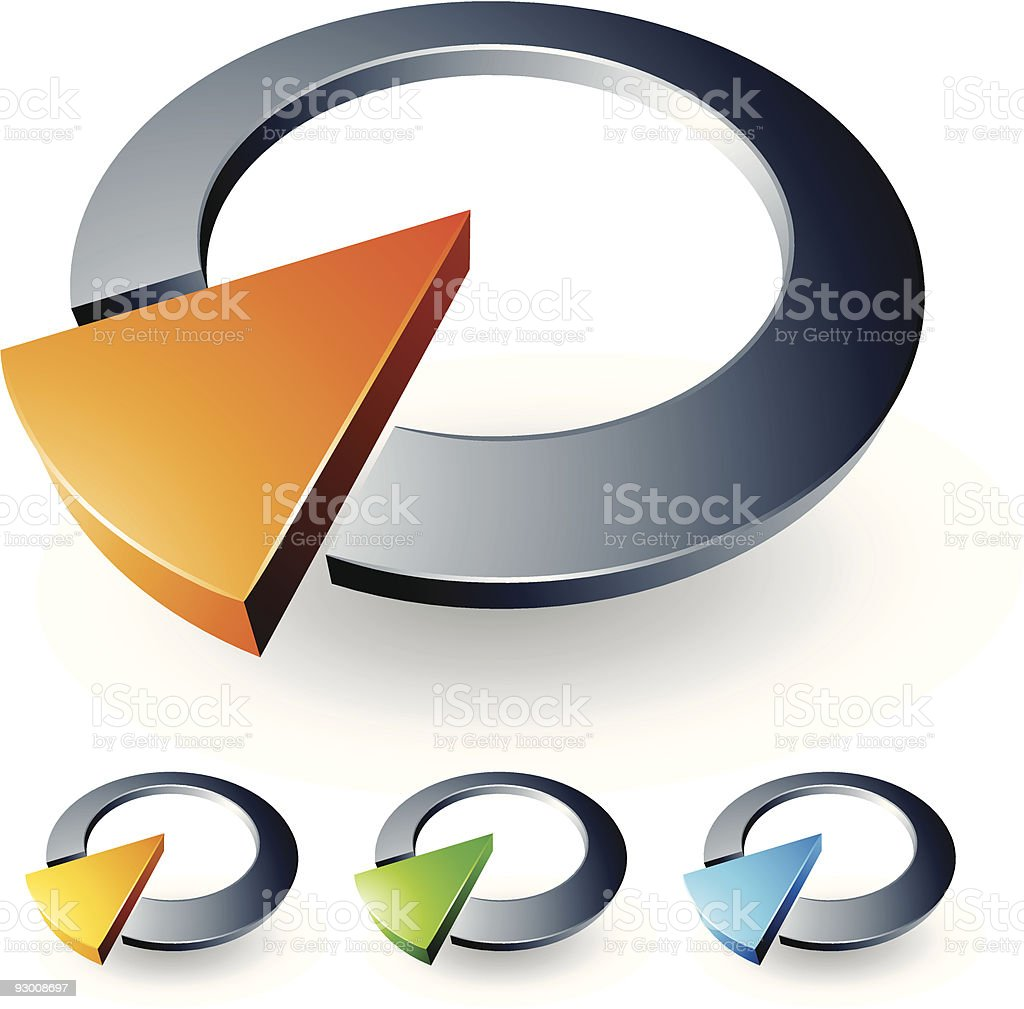 Abstract 3D design royalty-free stock vector art