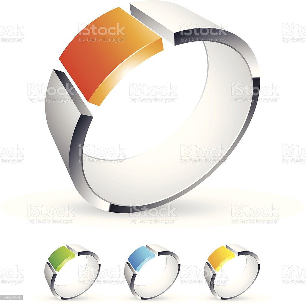 Abstract 3D design vector art illustration
