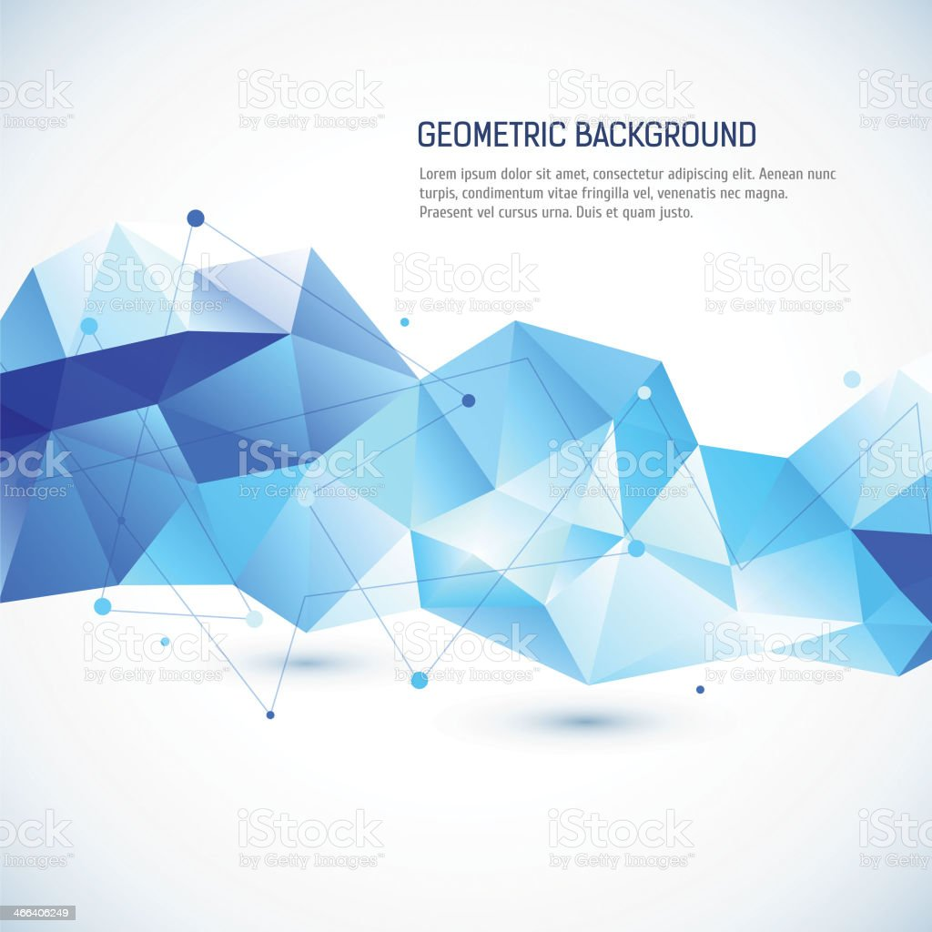 Abstract 3D geometric background vector art illustration