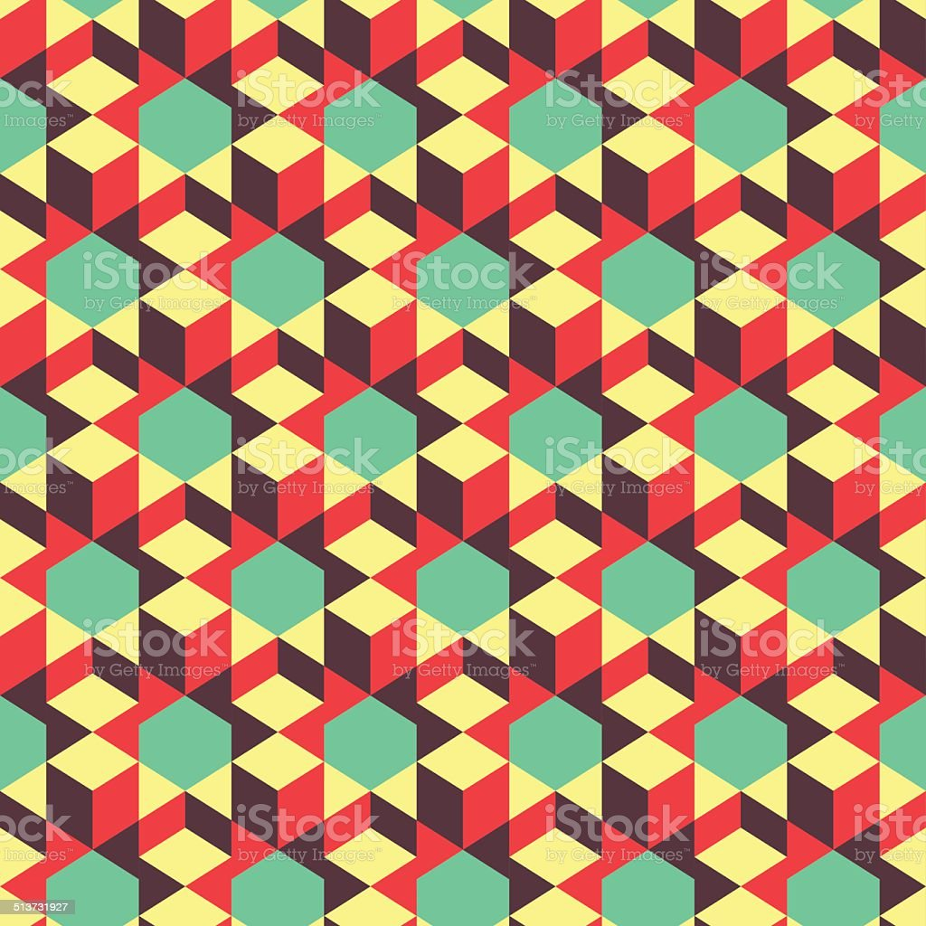 Abstract 3d geometrical background. Mosaic. Vector illustration. vector art illustration