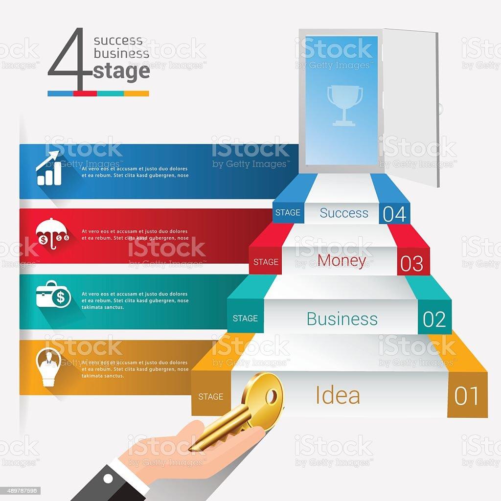 Abstract 3D Modern digital template vector banner info graphics. vector art illustration
