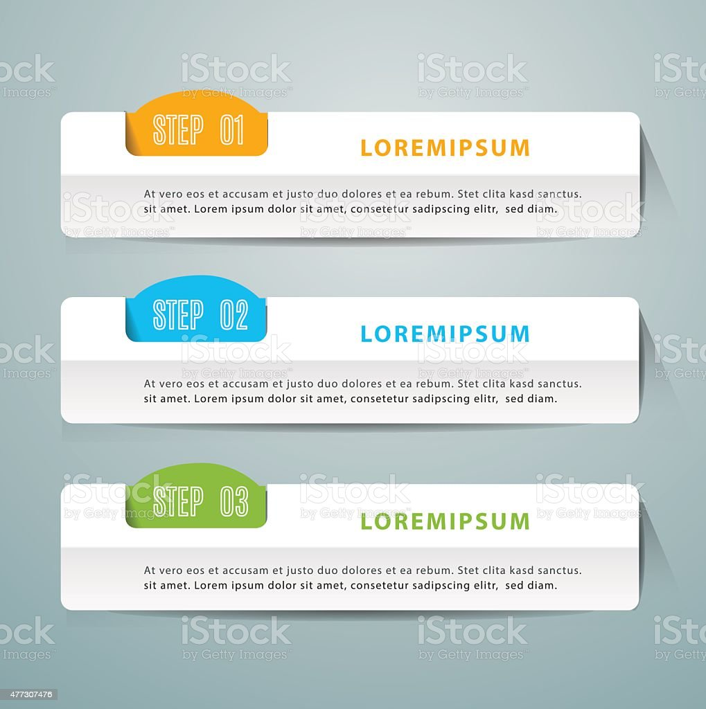 Abstract 3D Modern digital template vector  banner infographics. vector art illustration