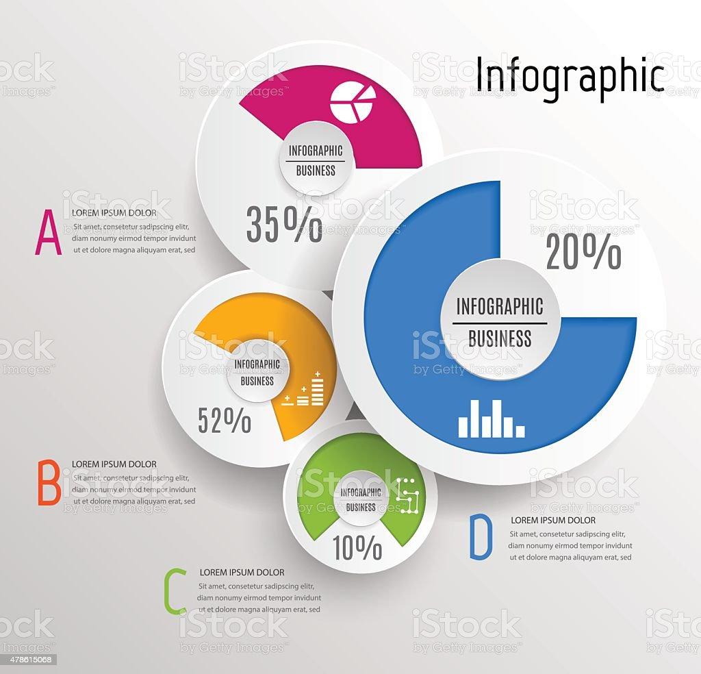 Abstract 3D Modern digital template vector  banner infographics. vector art illustration