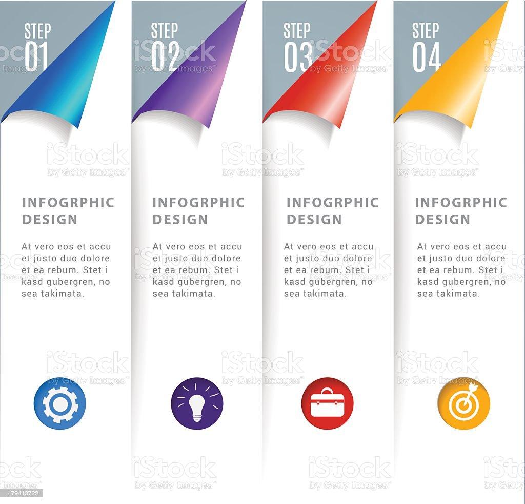 Design vector banner - Abstract 3d Modern Digital Template Vector Banner Infographics Royalty Free Stock Vector Art