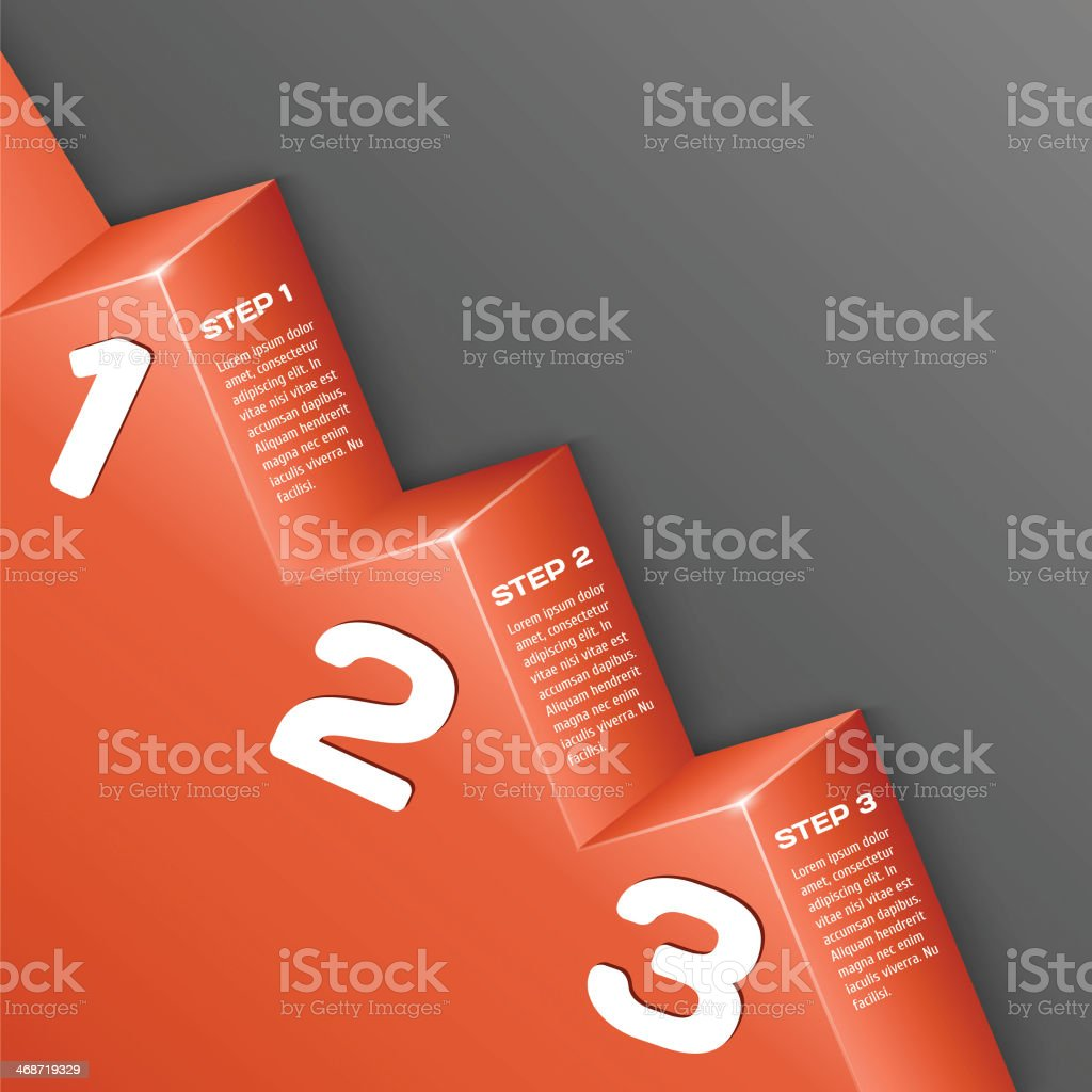 Abstract 3d numbers background vector art illustration