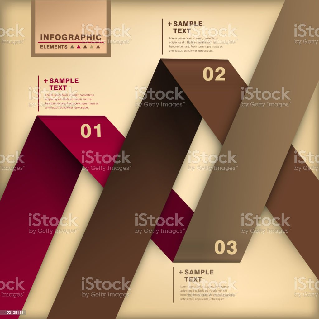 abstract 3d origami paper infographics vector art illustration