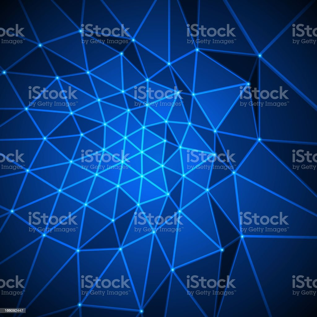 Abstract 3d origami polygonal shape vector background royalty-free stock vector art