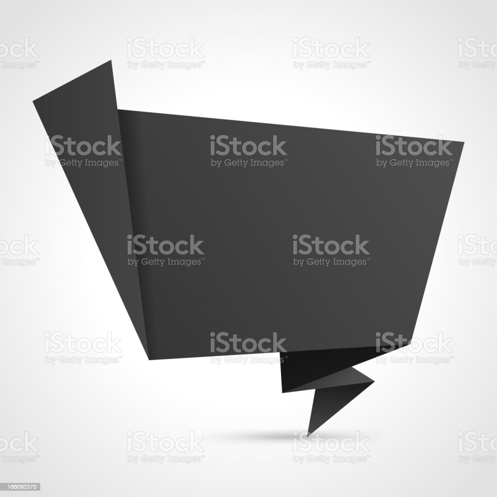 Abstract 3d origami speech bubble vector background royalty-free stock vector art