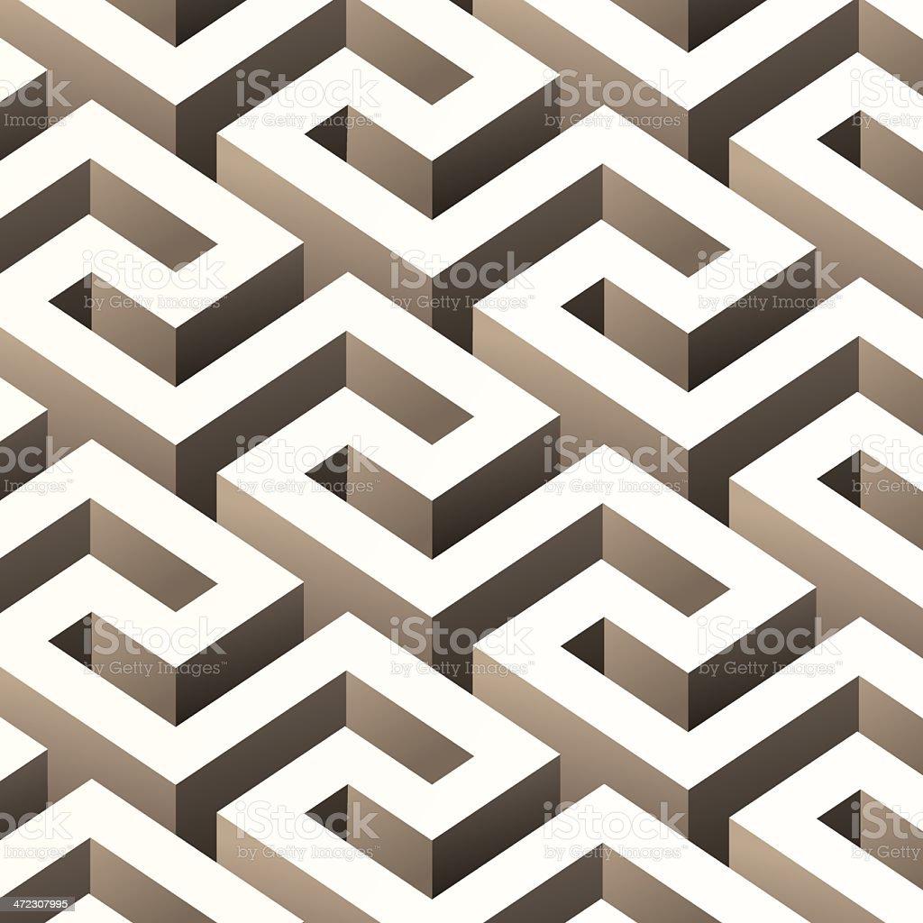 Abstract 3D pattern vector art illustration