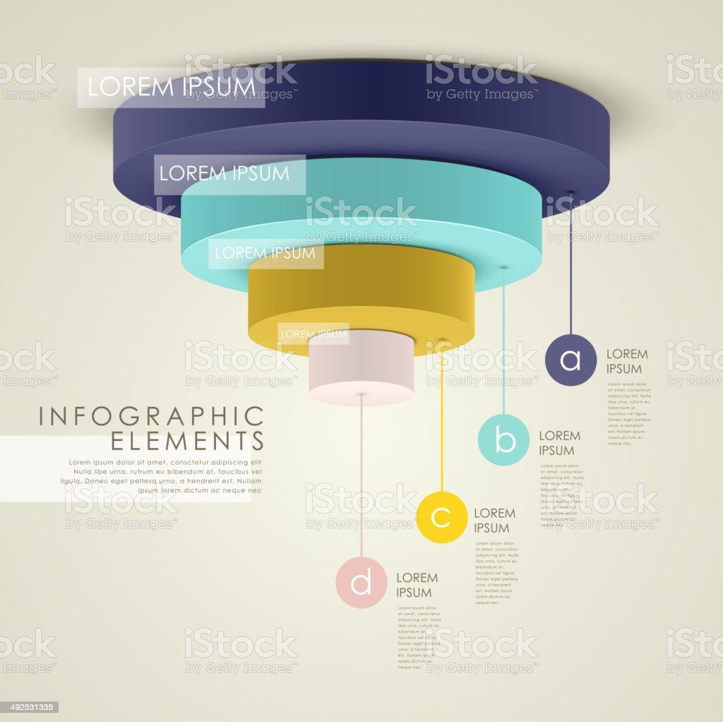abstract 3d pie chart infographics vector art illustration