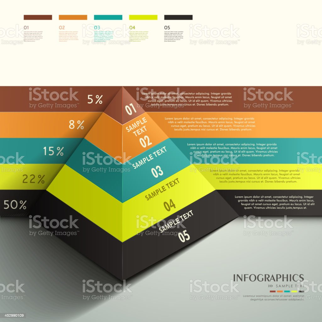abstract 3d Pyramid infographics vector art illustration