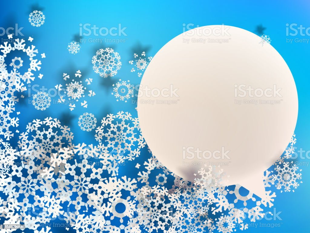 Abstract 3D Snowflakes. + EPS10 royalty-free stock vector art