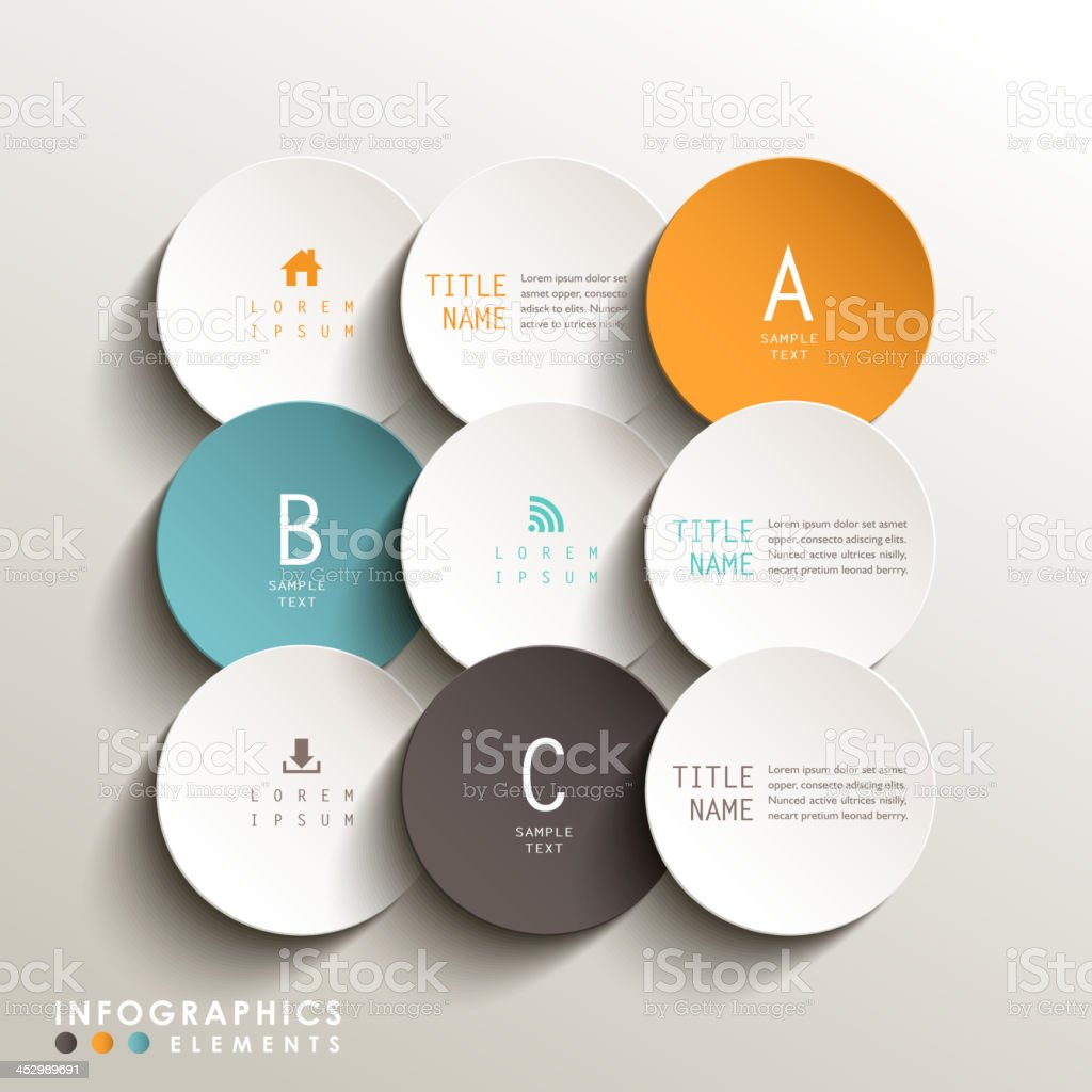 abstract 3d tag infographics vector art illustration
