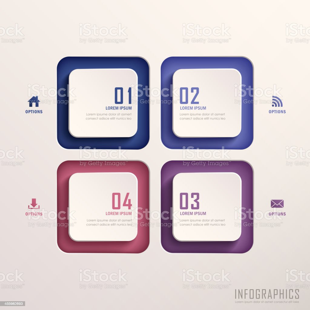 abstract 3d tag infographics royalty-free stock vector art