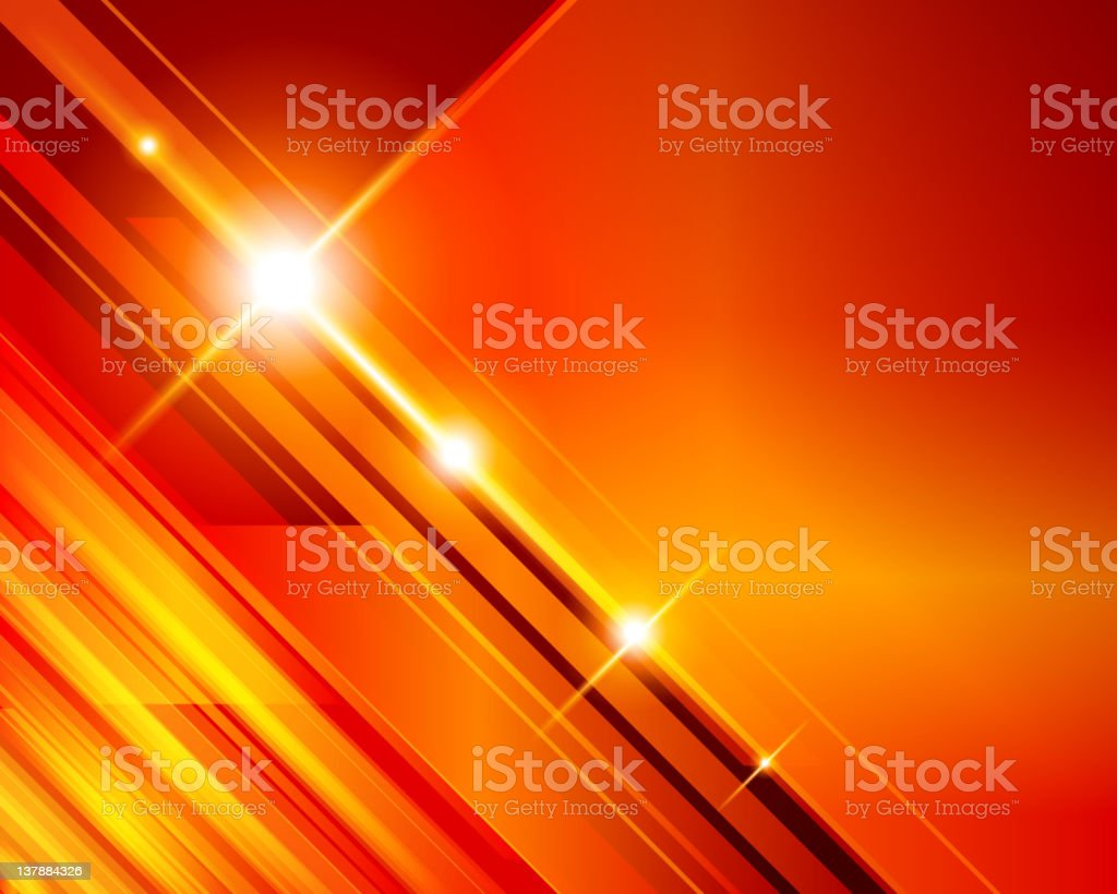 Abstract 3d technology lines with light royalty-free stock vector art
