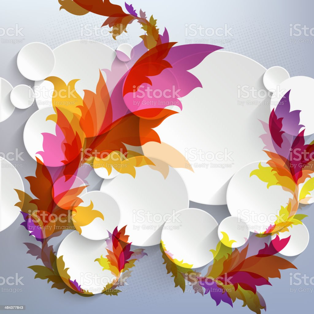 Abstract 3D Template with floral elements royalty-free stock vector art