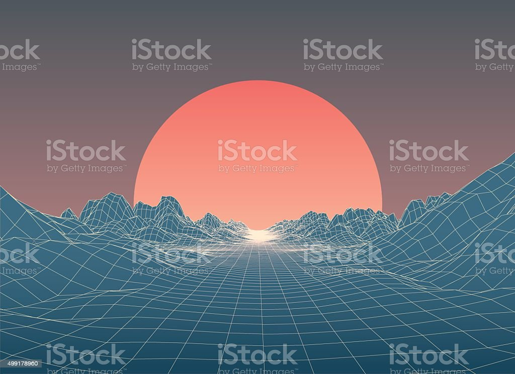 Abstract 80s Style Retro Background royalty-free stock vector art