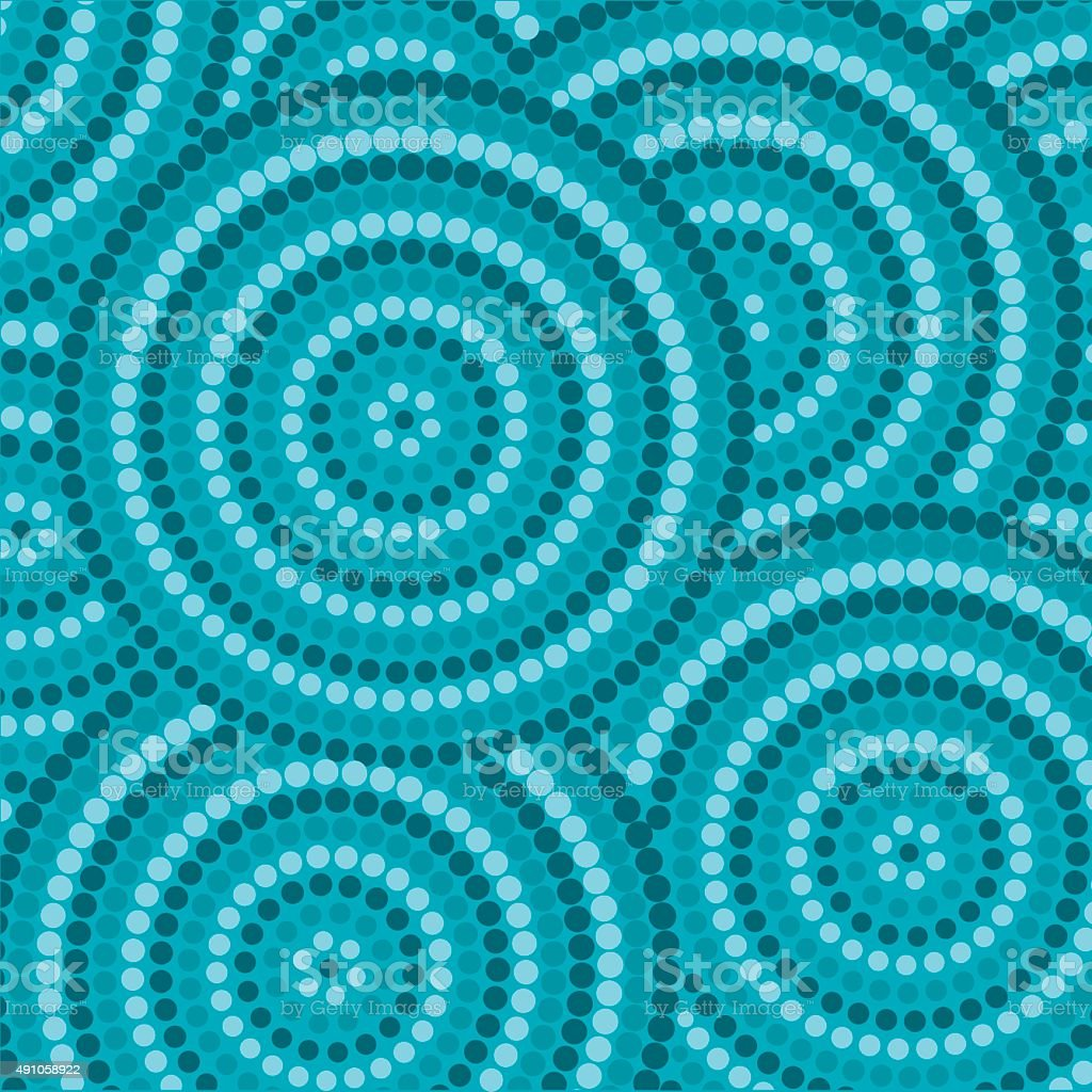 Abstract Aboriginal dot painting in vector format. vector art illustration