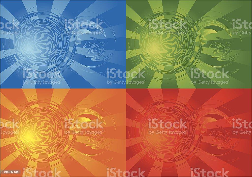 Abstract alien liquid planet royalty-free stock vector art