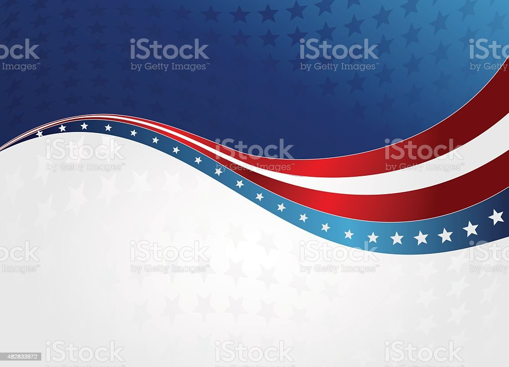 abstract American flag vector art illustration