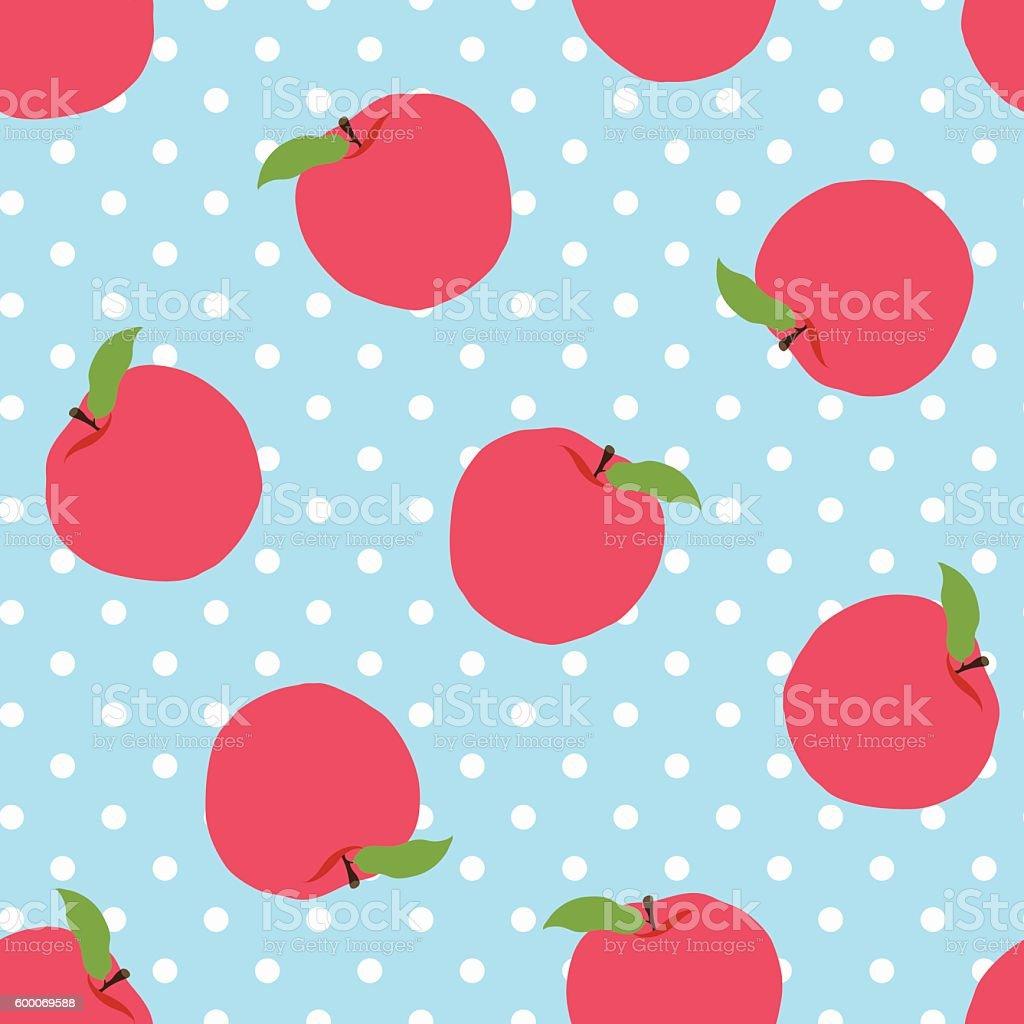 Abstract apple pattern background vector art illustration