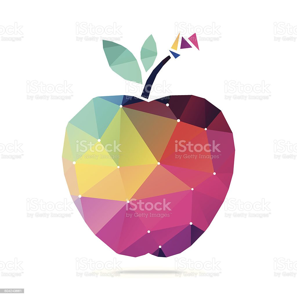 Abstract Apple vector art illustration