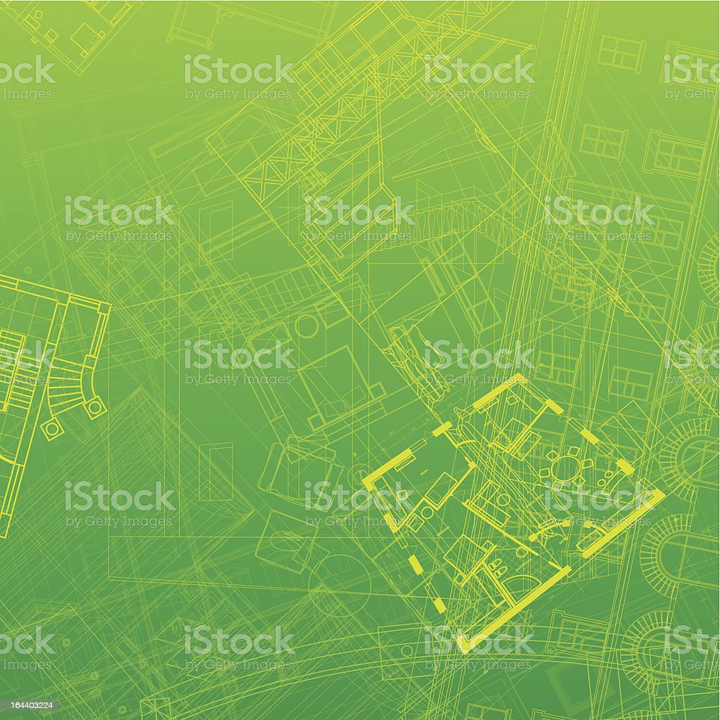 Abstract architectural background royalty-free stock vector art
