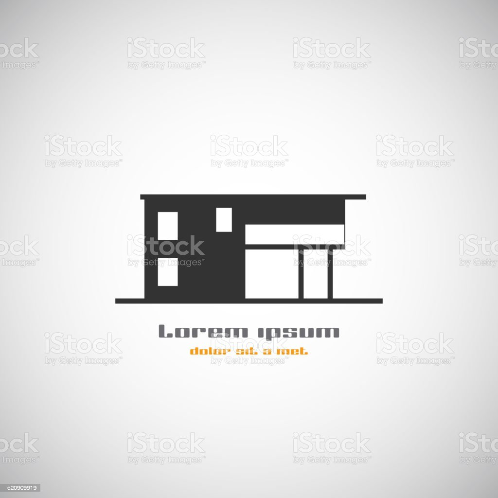 Abstract architecture building silhouette vector logo design template. vector art illustration