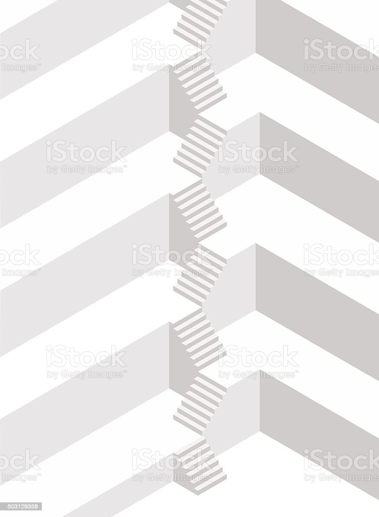 Abstract architecture vector art illustration
