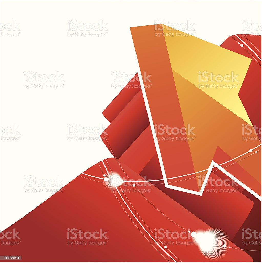abstract arrow background royalty-free stock vector art
